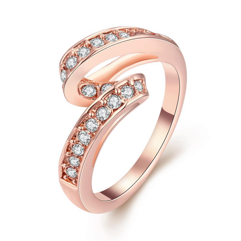 Vienna Jewelry 18K Rose Gold Plated Swirl Ring Size 7