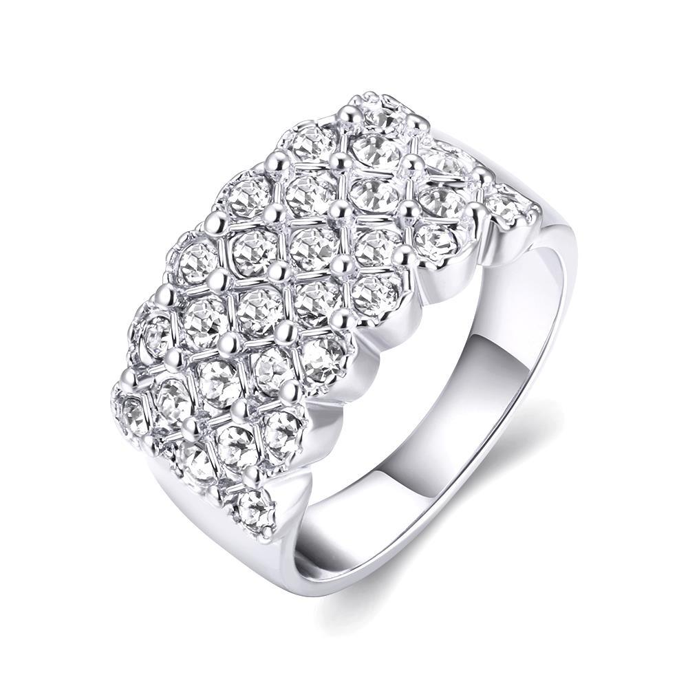 Vienna Jewelry 18K White Gold X Ring Size 7