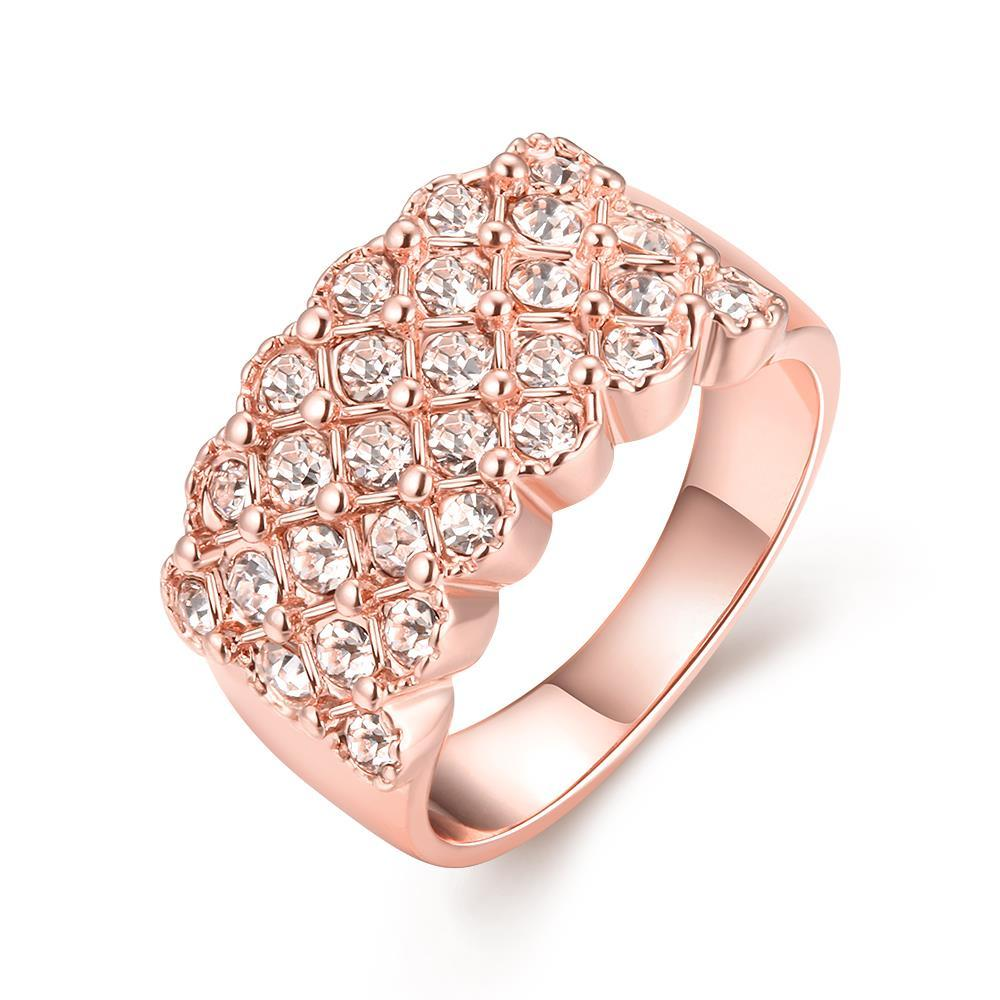 Vienna Jewelry 18K Rose Gold X Ring Size 8