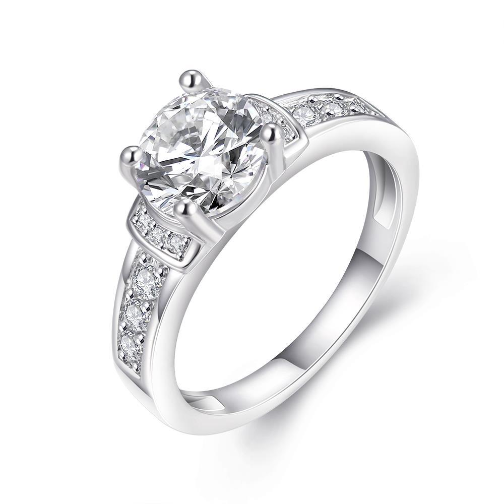 Vienna Jewelry 18K White Gold Plated Classic Layer Ring Size 7