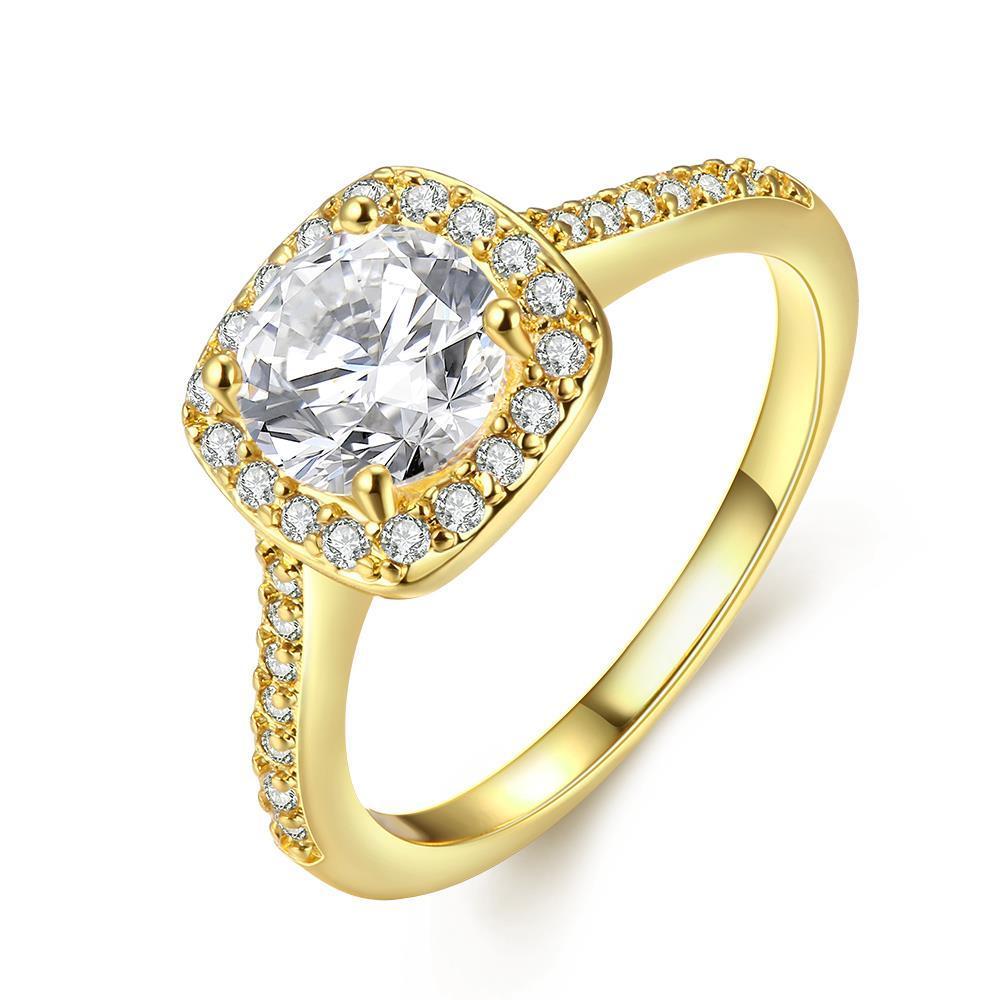 Vienna Jewelry 18K Gold Plated Geometric Ring Size 6