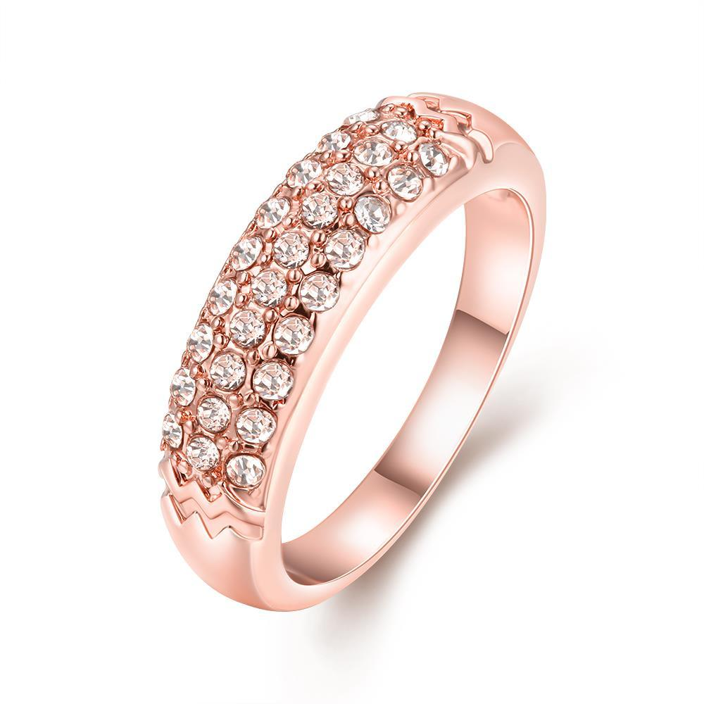 Vienna Jewelry 18K Rose Gold Triple Layer Middi Ring Size 6