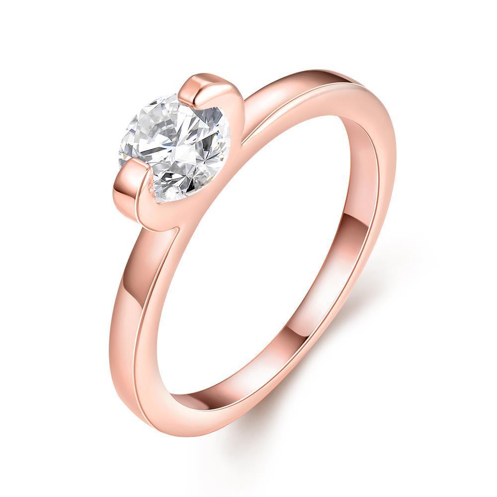 Vienna Jewelry Classic 18K Rose Gold Wedding Ring Size 6
