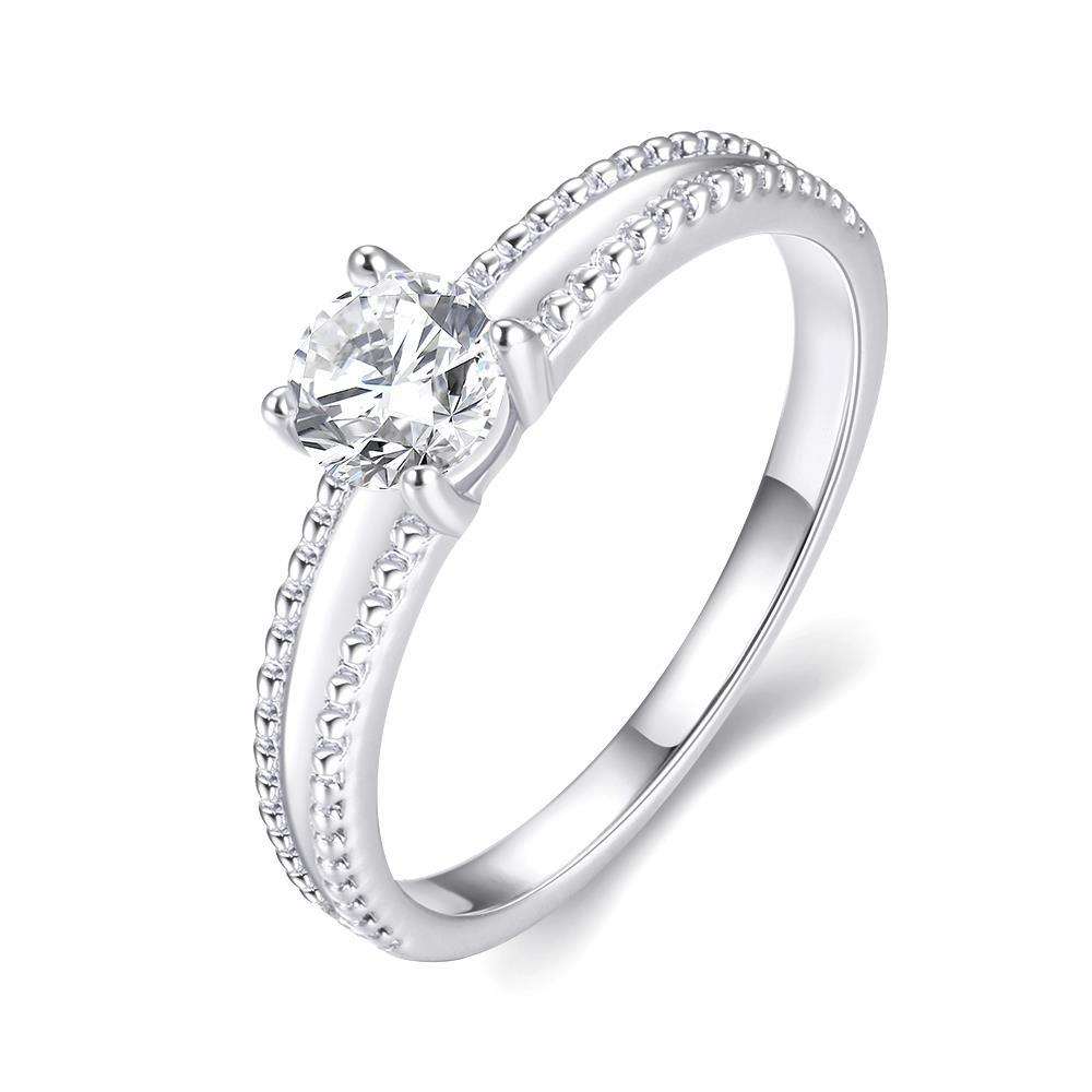 Vienna Jewelry 18K White Gold Plated Elegant Cut Ring Size 7