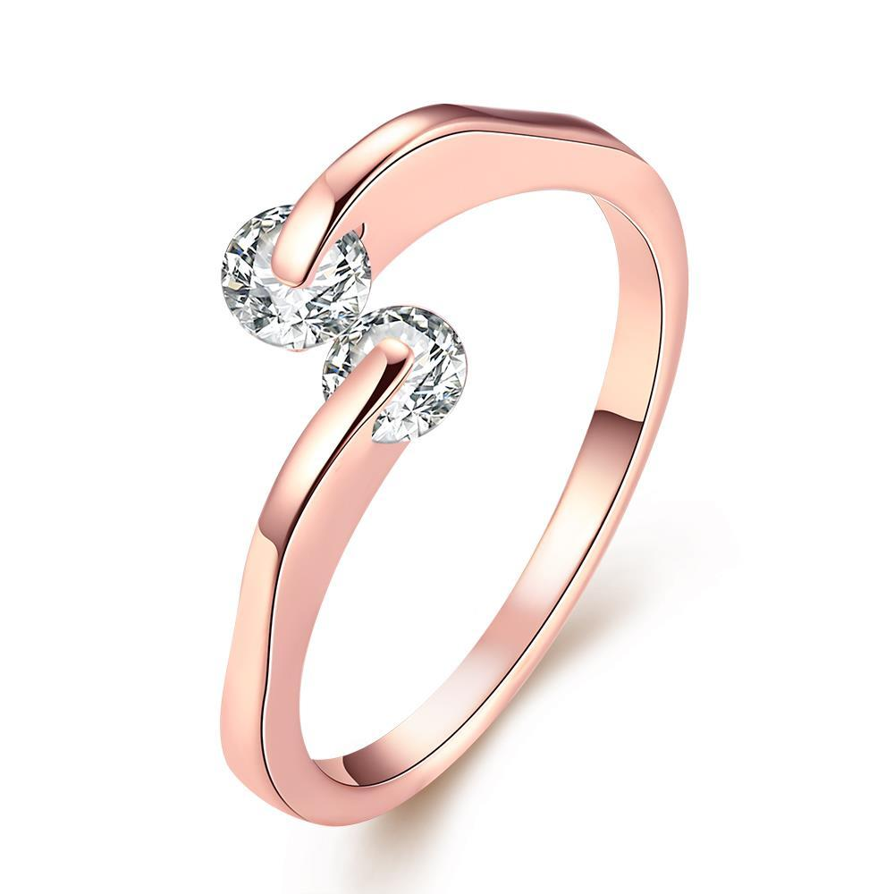 Vienna Jewelry Love Comet Rose Gold Ring Size 8