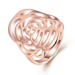 Vienna Jewelry 18K Rose Gold Plated Maze Ring Size 7 - Thumbnail 0
