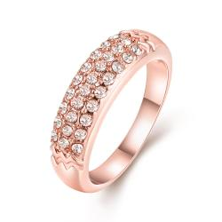 Vienna Jewelry 18K Rose Gold Triple Layer Middi Ring Size 6 - Thumbnail 0