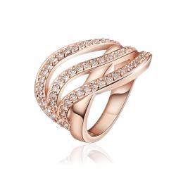 Vienna Jewelry Rose Gold Plated Grape-Vine Desgin Swirl Ring Size 8 - Thumbnail 0