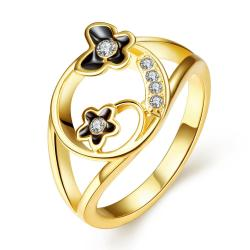Vienna Jewelry Gold Plated Petite Butterfly Circular Ring Size 8 - Thumbnail 0