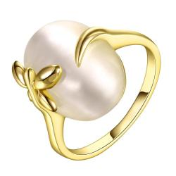 Vienna Jewelry Gold Plated Closing Pearl Center Ring Size 8 - Thumbnail 0