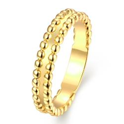 Vienna Jewelry Gold Plated Petite & Sophistacted Ring - Thumbnail 0