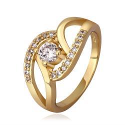 Vienna Jewelry Gold Plated Muli-Knotted Jewel Ring Size 8 - Thumbnail 0