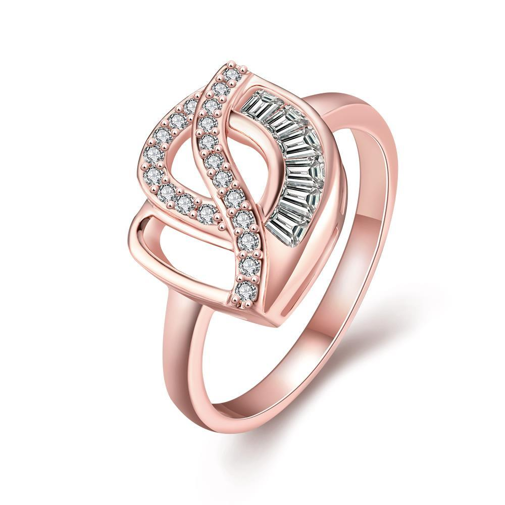 Vienna Jewelry Gold Plated Hollow Rose Petal Ring