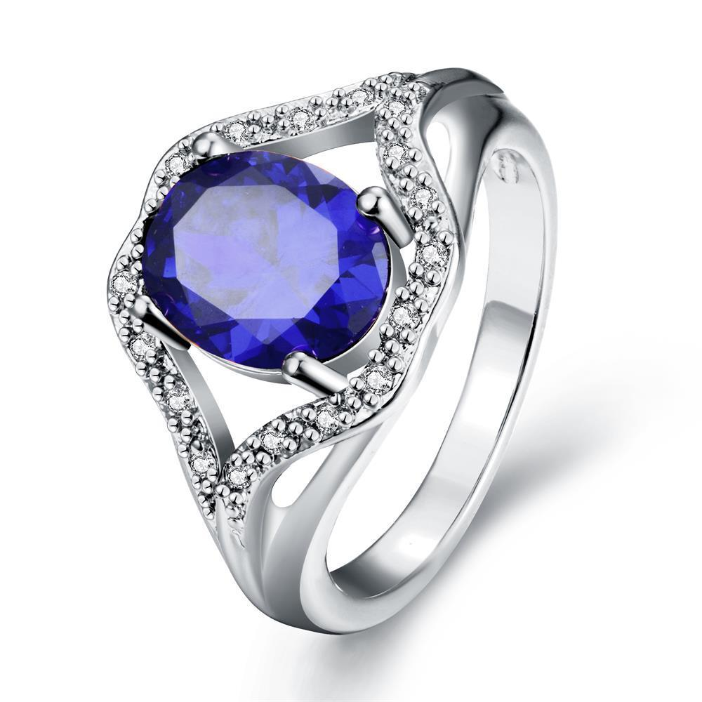 Vienna Jewelry Gold Plated Gemstone Open-Ended Ring