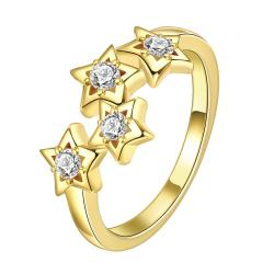 Vienna Jewelry Gold Plated Cluster Starts in the Sky Ring - Thumbnail 0