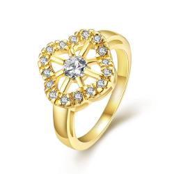 Vienna Jewelry Gold Plated Pocket Full of Sunshine Ring - Thumbnail 0