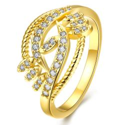 Vienna Jewelry Gold Plated Tree Nature Branch Designer Ring - Thumbnail 0