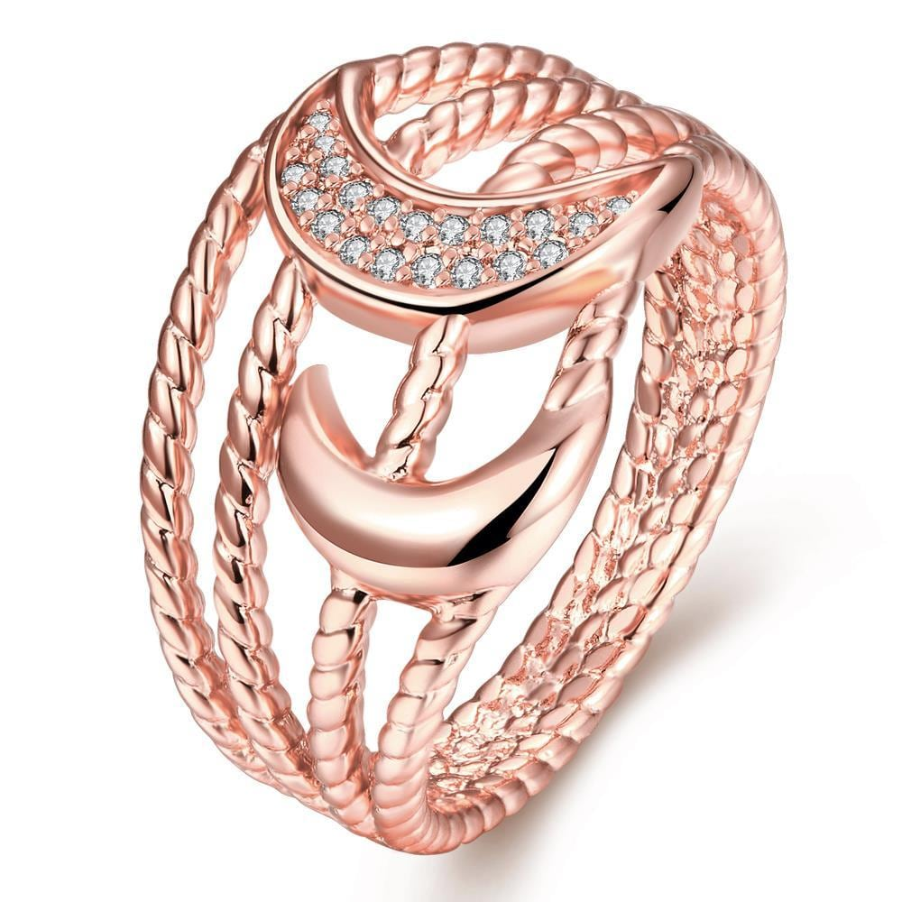 Vienna Jewelry Gold Plated Intertwined Design Ring