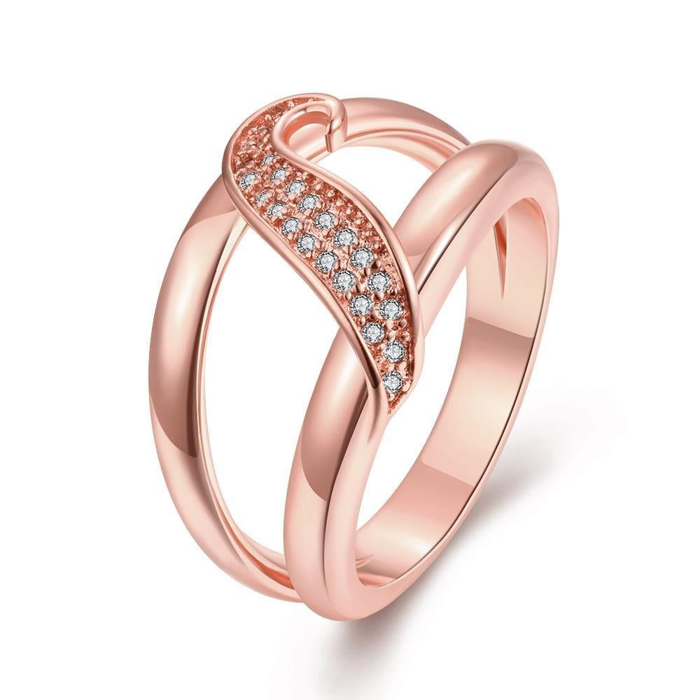 Vienna Jewelry Gold Plated Petite Swirl Ring