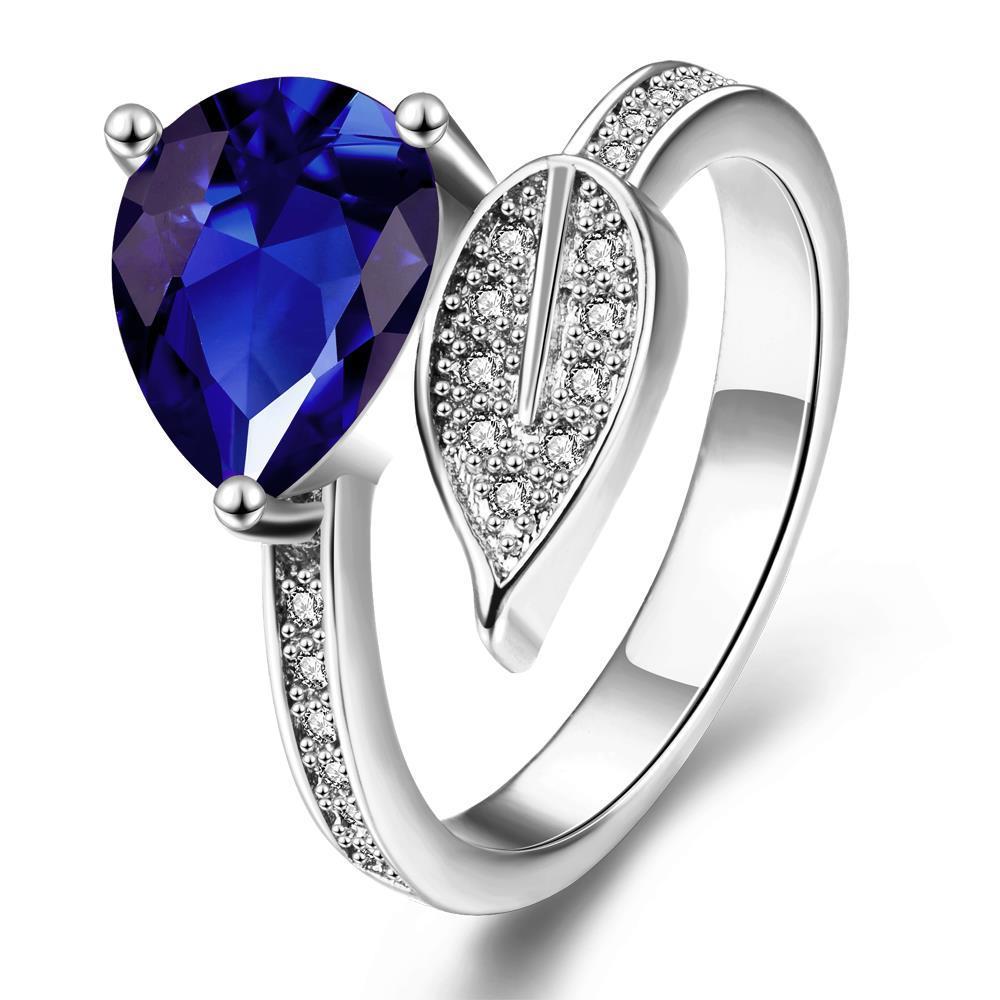 Vienna Jewelry Gold Plated Leaf Branch Gemstone Ring