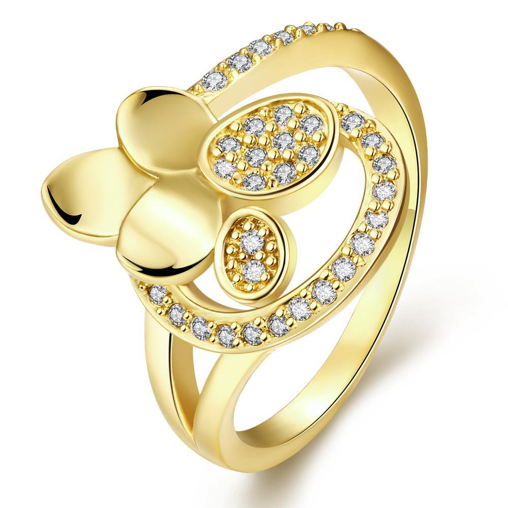Vienna Jewelry Gold Plated Multi Petals Ring