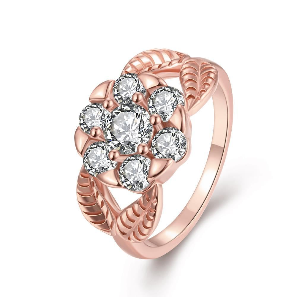 Vienna Jewelry Gold Plated Pentagon Crystal Ring