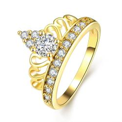 Vienna Jewelry Gold Plated Arrow Spear Crystal Jewel Ring - Thumbnail 0