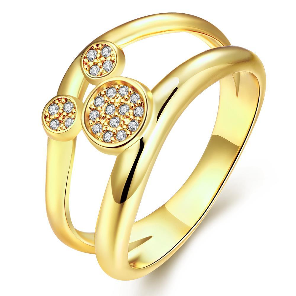 Vienna Jewelry Gold Plated Mickey's Face Inspired Ring