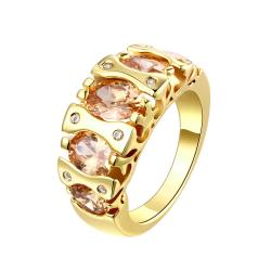 Vienna Jewelry Gold Plated Piano Keys Inspired Ring - Thumbnail 0