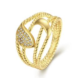 Vienna Jewelry Gold Plated Anchor Inspired Ring - Thumbnail 0