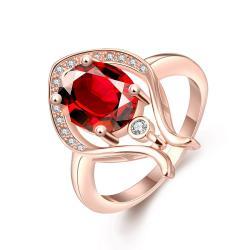 Vienna Jewelry Gold Plated Harp Design Natural Gemstone Ring - Thumbnail 0