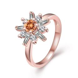 Vienna Jewelry Gold Plated Snowflake Jewels Ring - Thumbnail 0