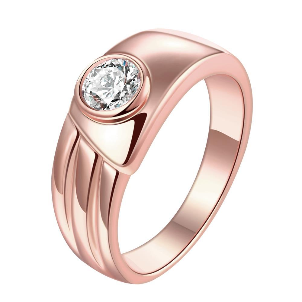 Vienna Jewelry Gold Plated Vintage Style Crystal Ring