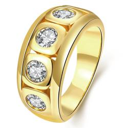 Vienna Jewelry Gold Plated Full of Crystal Jewels Ring - Thumbnail 0