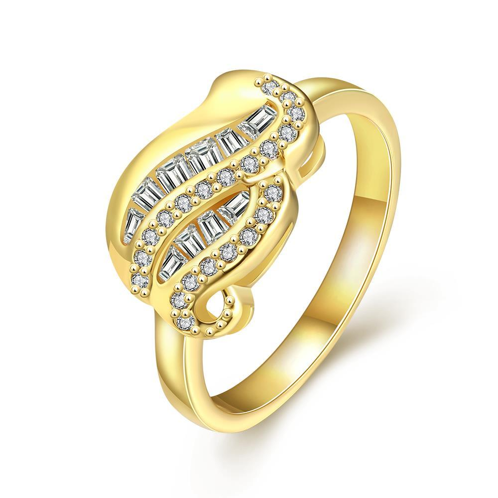 Vienna Jewelry Gold Plated Musical Abstract Design Ring
