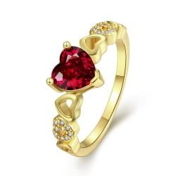 Vienna Jewelry Gold Plated Petite Love is Everywhere Ring - Thumbnail 0