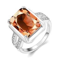 Vienna Jewelry Gold Plated New York Inspired Citrine Ring - Thumbnail 0
