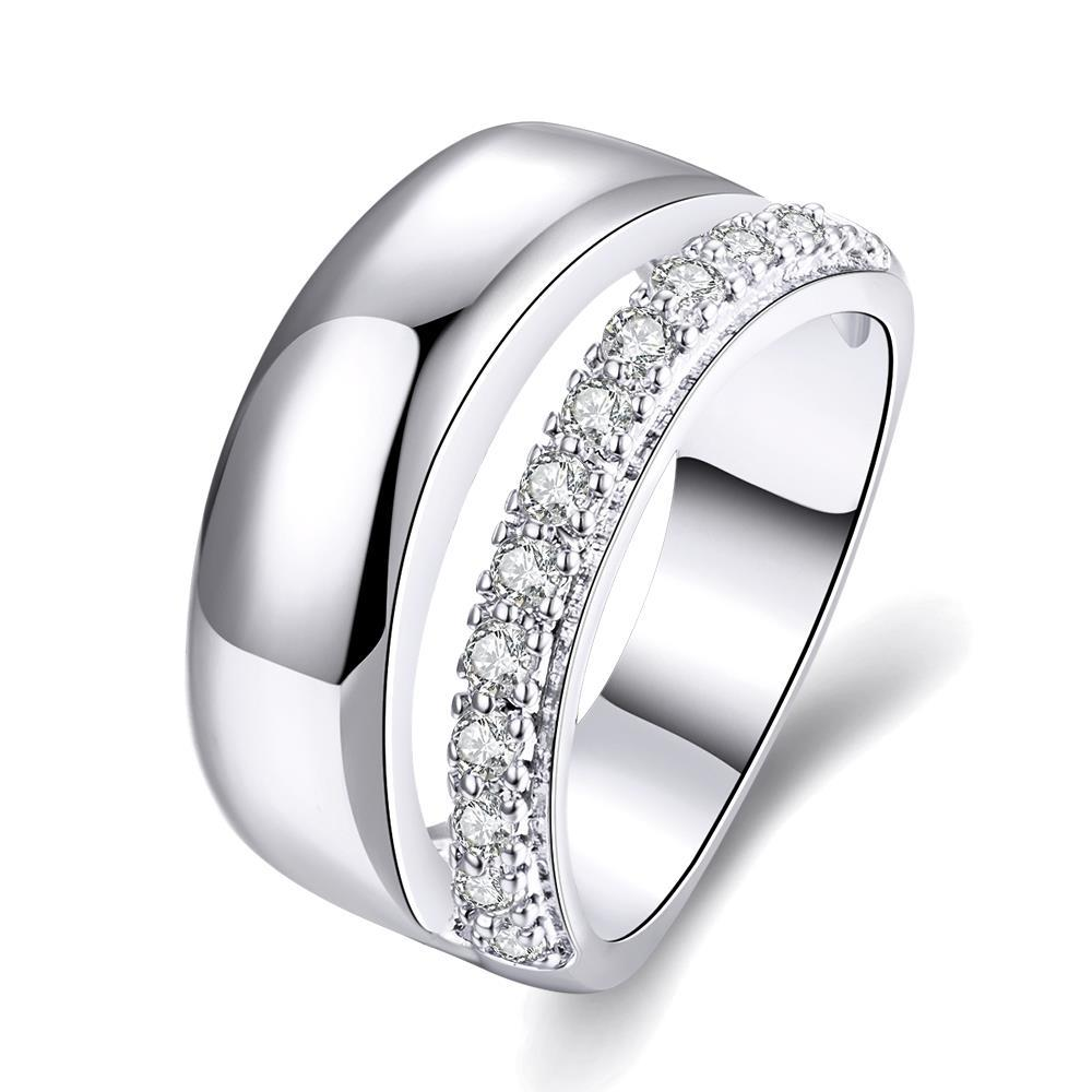 Vienna Jewelry Gold Plated Classical Wedding Ring with a Modern Twist