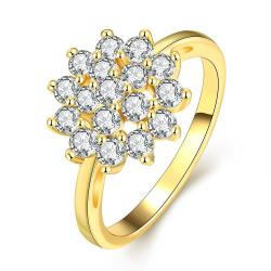 Vienna Jewelry Gold Plated Snowflake Full of Jewels Ring - Thumbnail 0
