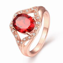 Vienna Jewelry Gold Plated Gemstone Open-Ended Ring - Thumbnail 0