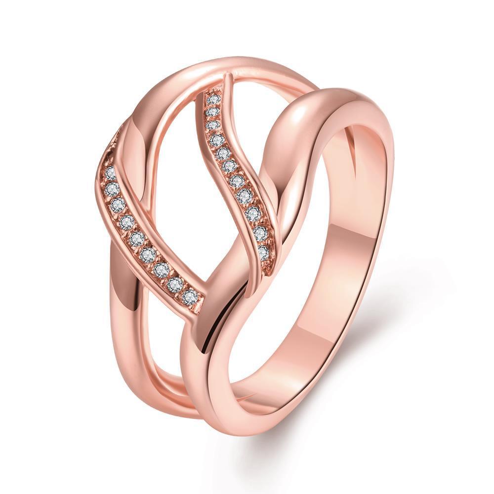 Vienna Jewelry Gold Plated Horizontal Wishbone Design Ring
