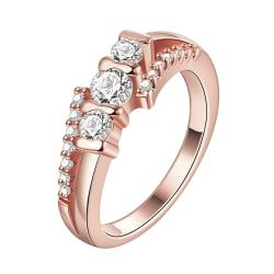 Vienna Jewelry Gold Plated Woven Layered Crystal Ring - Thumbnail 0