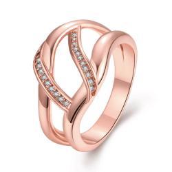 Vienna Jewelry Gold Plated Horizontal Wishbone Design Ring - Thumbnail 0