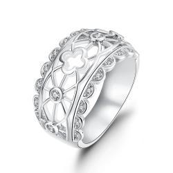 Vienna Jewelry Gold Plated Laser Cut Matrix Design Ring - Thumbnail 0