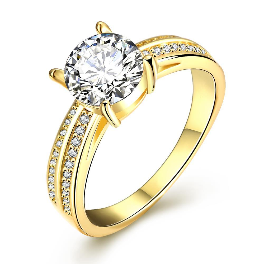 Vienna Jewelry Gold Plated Madison Ave Inspired Ring