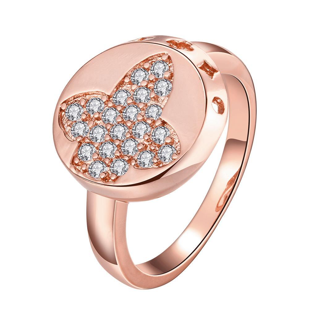 Vienna Jewelry Gold Plated Design Loop Sides Ring