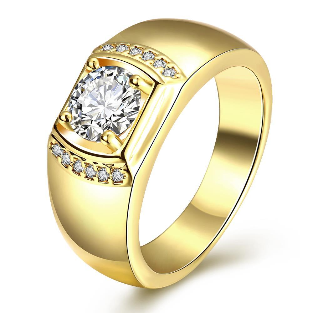 Vienna Jewelry Gold Plated Crystal Cluster Ring