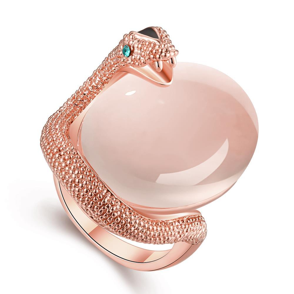 Vienna Jewelry Rose Gold Plated Snake Egg Inspired Ring Size 8