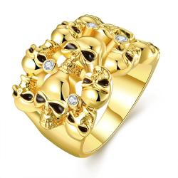 Vienna Jewelry Gold Plated Multi Floral Orchid Ring Size 8 - Thumbnail 0