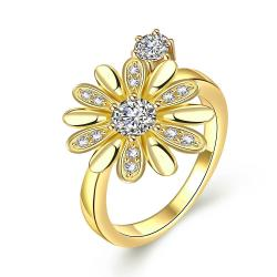 Vienna Jewelry Gold Plated Charming Daisy Ring - Thumbnail 0